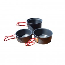 Набор посуды Alpine Mountain Gear Hard Anodized 3 Piece Backpacker cookset